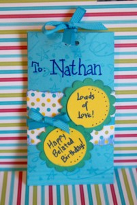 Nathan's Birthday Chocolate Candy Favor