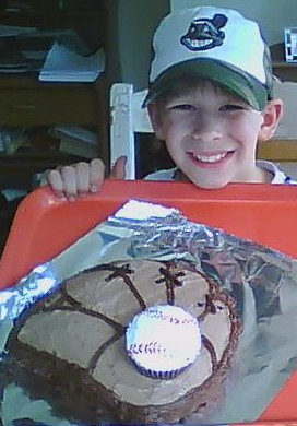 baseball glove mitt and ball cake