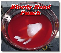 bloody hand punch
