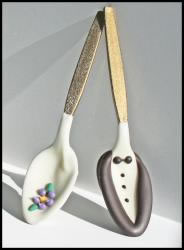Bride and Groom Chocolate Spoons