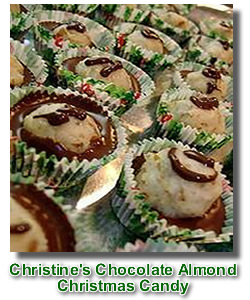 chocolate almond Christmas candy
