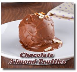 buy or make chocolate almond trufffles