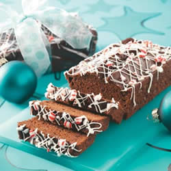 christmas ideas chocolate candy cane bread