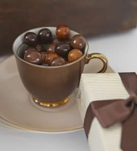 ideas for mothers day presents chocolate coffee beans in teacup