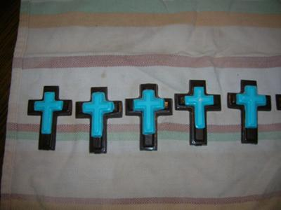 Chocolate Crosses for a Christening Party