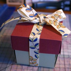 This little chocolate explosion box holds a yummy surprise!