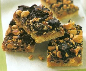 chocolate hazelnut caramel bars