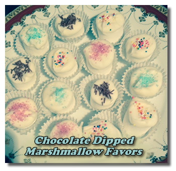 chocolate marshmallow candy favors