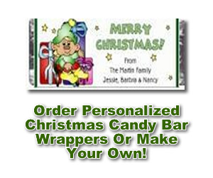 custom Christmas Candy Bar Wrappers