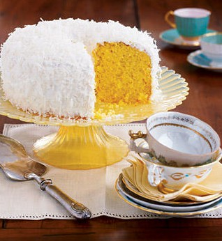 Coconut Fluff Cake from Woman's Day