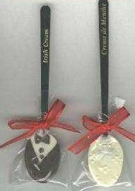 white chocolate candy spoons