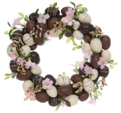 Easter craft chocolate Easter egg wreath