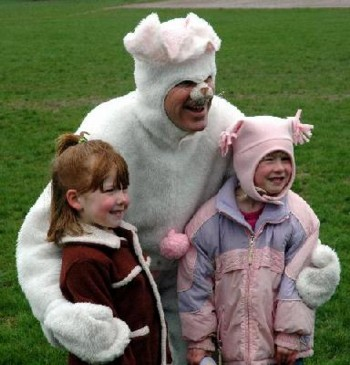 Easter Egg Hunt and Easter Bunny