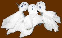 Halloween party favor ghost lollipops
