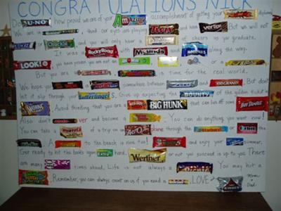 graduation candy bar card 21300183 Cute Sayings Using Candy Bars