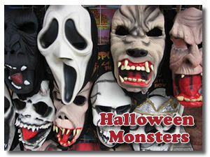 Halloween monster masks