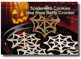 Halloween Recipes Spiderweb Cookies