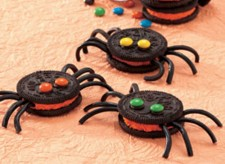 chocolate spider cookies by Betty Crocker