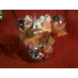 Halloween Candy Bouquet Dish