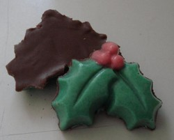 homemade molded chocolate for Christmas