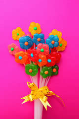 how to make candy bouquet