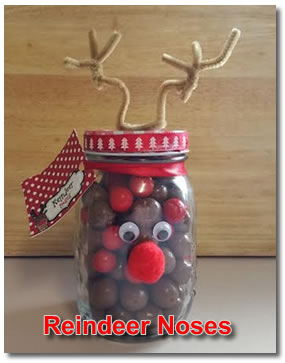 inexpensive homemade christmas gifts reindeer noses