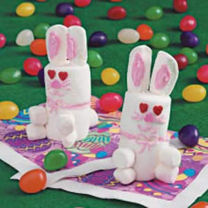 marshmallow easter bunny crafts