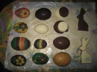 Chocolate and Marzipan Easter Eggs