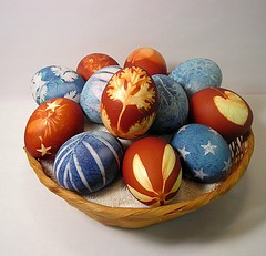 Easter Eggs Made With Natural Colors