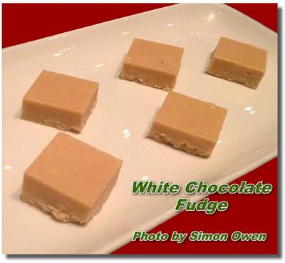 Making Homemade White Chocolate Fudge