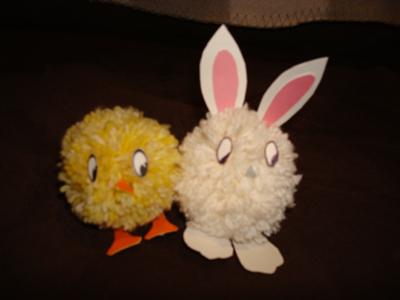 Pom Pom Chicks and Rabbits