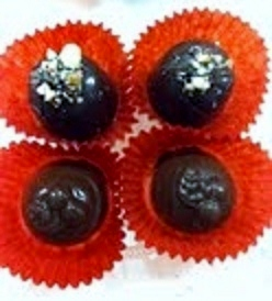 Caramel Pecan Chocolates (Top) - Cherry Filled Chocolates (Bottom)