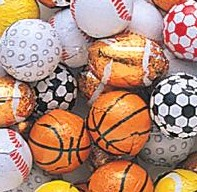 novelty chocolate candy sports balls