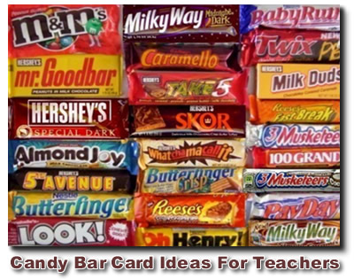 Teacher Candy Bar Card Ideas