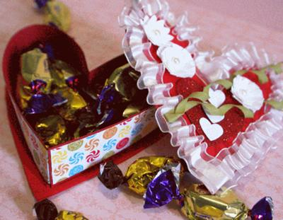 The heart shaped box filled with chocolate eclairs...