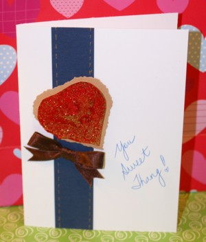 A Faux Metal Heart Card