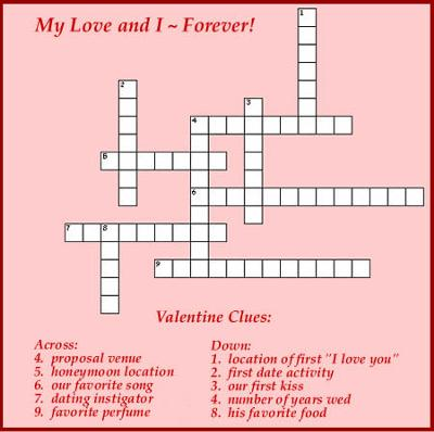 image about Valentine Crossword Puzzles Printable referred to as Valentines Working day Pleasurable!