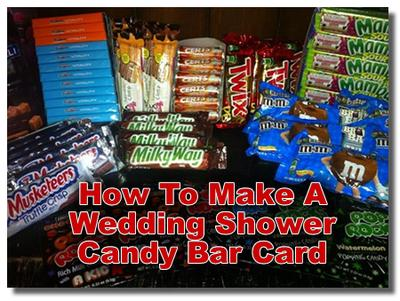 ideas for making a wedding shower candy bar card