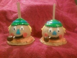 Peanut Butter Candy Apple Scarecrow