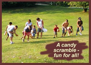 candy scramble party gam