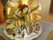 chocolate gift basket yellow