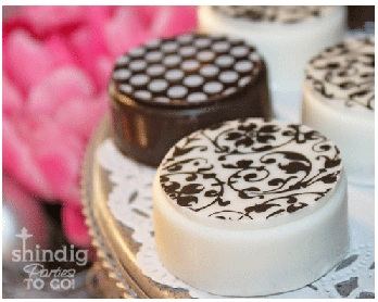 Chocolate Oreo Cookie Molds With Chocoate Transfers
