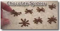 Halloween Recipes Chocolate Spider