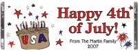 Independence Day Ideas July 4 custom printed candy bars