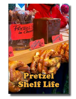 What is the shelf life of chocolate covered pretzels?