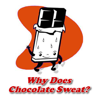 Why does chocolate sweat after taking out of refrigerator?